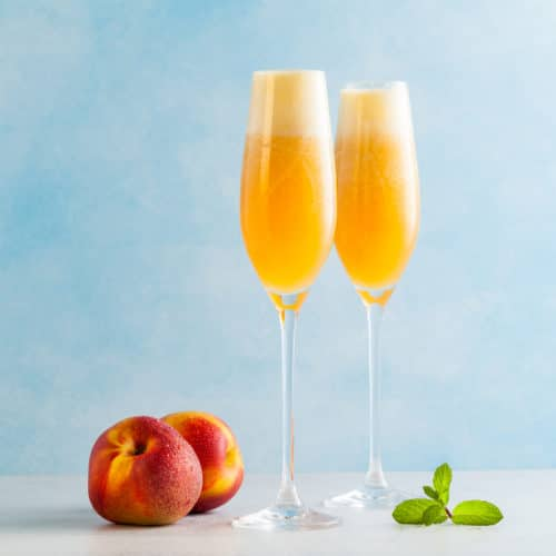 Apricot Fizz Champagne Cocktail